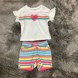 Pekkle | Kid's 2 Piece Set | Striped | Heart